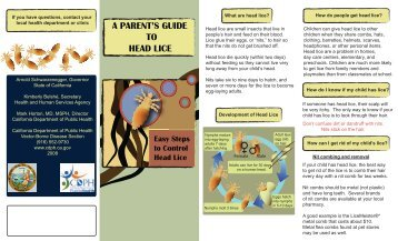 A PARENT'S GUIDE TO HEAD LICE - Butte County