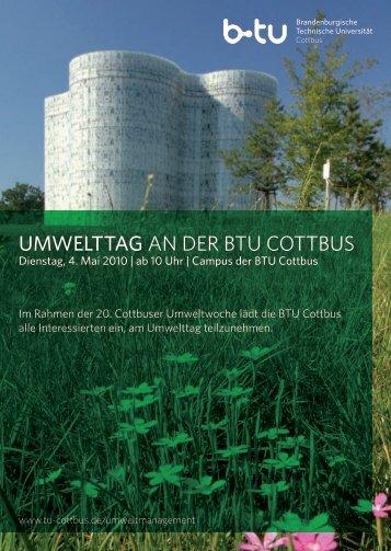 Umwelttag an der BTU CoTTBUs - Dr. Norbert Kopytziok