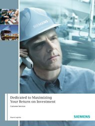Brochure: Customer Services - Siemens Mobility