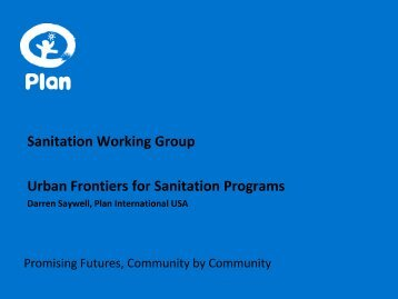 Urban Frontiers for Sanitation Programs - Sanitation Updates