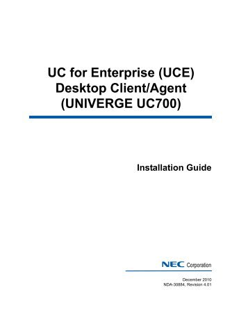 nec dterm series i user manual