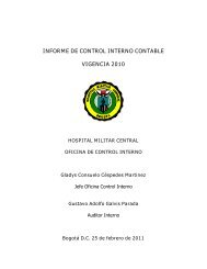 Informe sietema Control Interno Contable 2010 - Hospital Militar