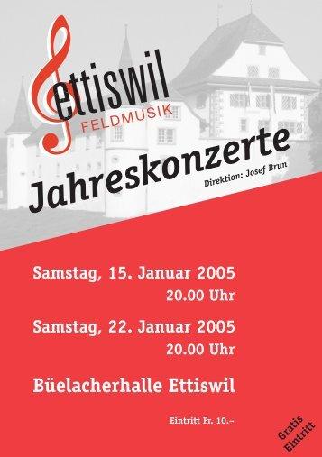 Jahreskonzerte - Feldmusik Ettiswil