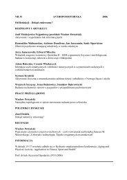 Antropomotoryka 35-2006 - Akademia Wychowania Fizycznego w ...