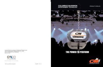THE POWER TO PERFORM - Columbus McKinnon Corporation
