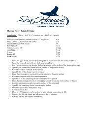 Molokai Sweet Potato Frittata Recipe - Sea House Restaurant
