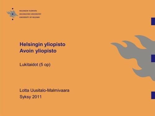 lukidiat20111-2 - Helsinki.fi