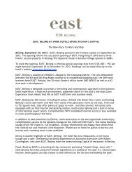 EAST Beijing - Sheila Donnelly & Associates