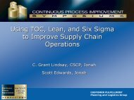 CPI Intel TOC Lean Six Sigma May 2008.pdf - Pinnacle Strategies