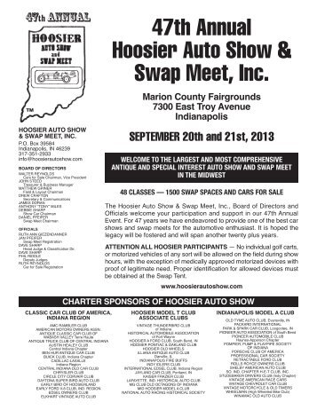 Fall Flyer - Hoosier Auto Show