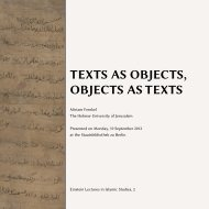 texts as objects, objects as texts - Intellectual History of the ...