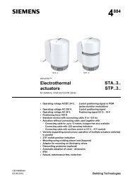 4884 Electrothermal actuators STA..3.. STP..3..