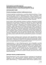 Humanistinen ammattikorkeakoulu Kansalaistoiminnan ja ...