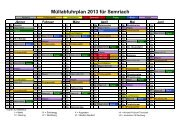 Müllabfuhrplan 2013 für Semriach