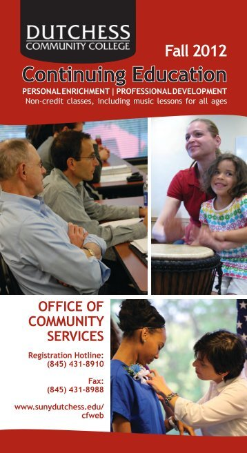 Fall 2012 Continuing Education - Dutchess Community College