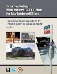 Transit Assessment - Metrobus Studies