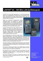 LANTEK 6A – 500 MHz LAN-Zertifiziergerät