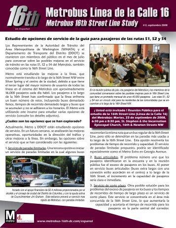16th Metrobus Línea de la Calle 16 - Metrobus Studies