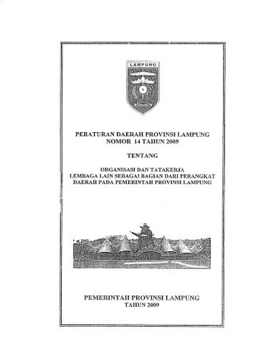 PERATURAN DAERAH PROVINSI LAMPUNG - BNPB