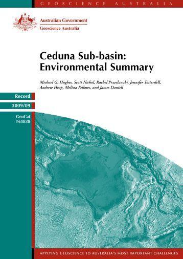 Ceduna Sub-basin: Environmental Summary - Geoscience Australia