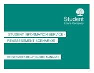 student information service - reassessment scenarios - HEI Services