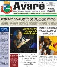 Avaré tem novo Centro de Educação Infantil - Câmara Municipal de ...