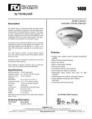 System Sensor Ionization Smoke Detector Features ... - Gamewell-FCI