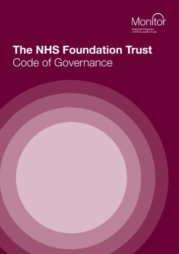 Code of Governance - Calderdale and Huddersfield NHS ...