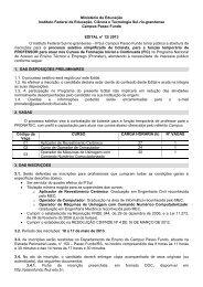 Edital - Campus Passo Fundo - Instituto Federal Sul-rio-grandense