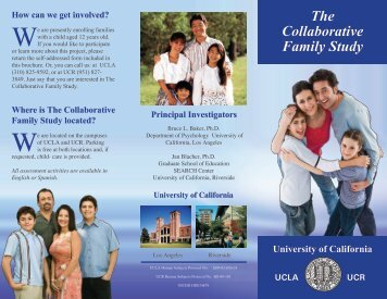 The Collaborative Family Study - Frank D. Lanterman Regional Center