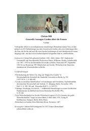 Generelle Aussagen Goethes über die Frauen - Das Goethezeitportal