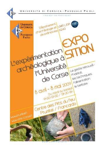 Dossier de presse expo - Università di Corsica Pasquale Paoli