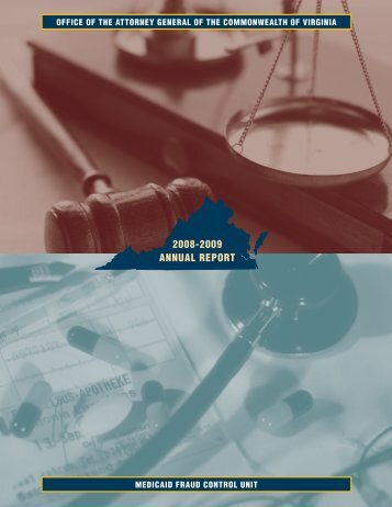 2008-2009 ANNUAL REPORT - Virginia Attorney General
