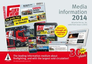 (Print issue, english) 2014 - Feuerwehr-Magazin