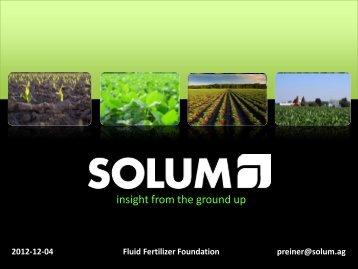 M. Preiner - Fluid Fertilizer Foundation