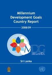 Millennium Development Goals Country Report - 2008/2009
