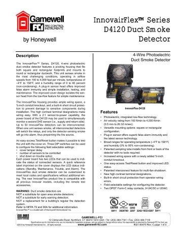 InnovairFlex™ Series D4120 Duct Smoke Detector - Gamewell-FCI