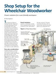 Shop Setup for the Wheelchair Woodworker - Woodcraft Magazine
