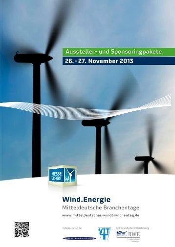 Sponsoringpakete - Wind.Energie - Mitteldeutsche Branchentage