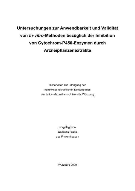 Untersuchungen zur Anwendbarkeit und Validität von In-vitro ...