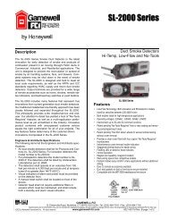 SL-2000 Series Duct Smoke Detectors - Gamewell-FCI