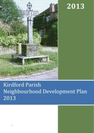 Kirdford Neighbourhood Development Plan - South Downs National ...