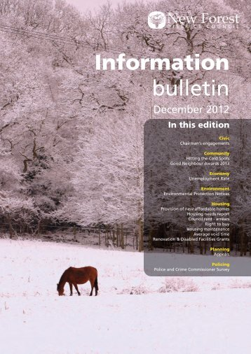 Information Bulletin - December 2012 - New Forest District Council