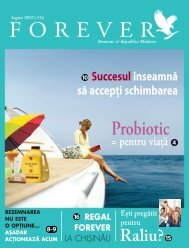 August 2010 - Forever Living Products