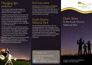 Dark skies leaflet - South Downs National Park Authority
