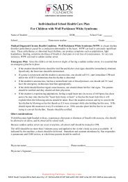 Individualized School Health Care Plan For Children with Wolf ...