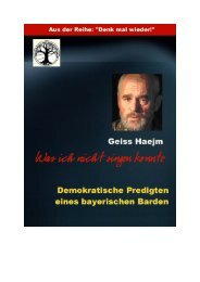 """""""Was ich nicht singen konnte"""" Demokratische ... - Geiss Haejm"""