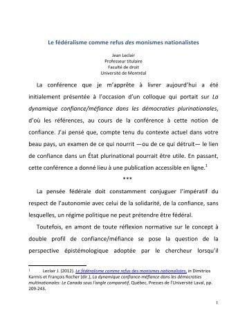 Leclair_fédéralisme_refus-des-monismes-nati-onalistes_CONF_Barcelone-1