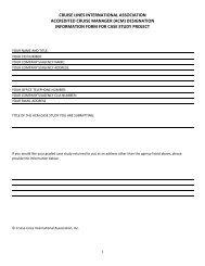 ACM Case Study Instruction Sheet - Cruise Lines International ...