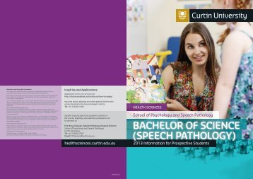 Information Booklet [434 KB] - Health Sciences - Curtin University